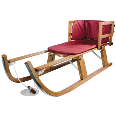 Lucky Bums Heirloom Collection Pull Sled - Wood, Foldable