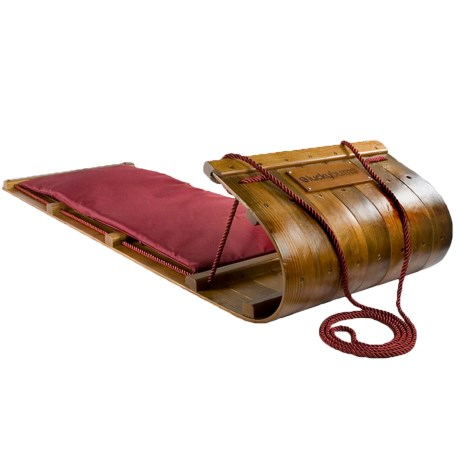 Lucky Bums Heirloom Collection Wood Toboggan with Pad - 48""