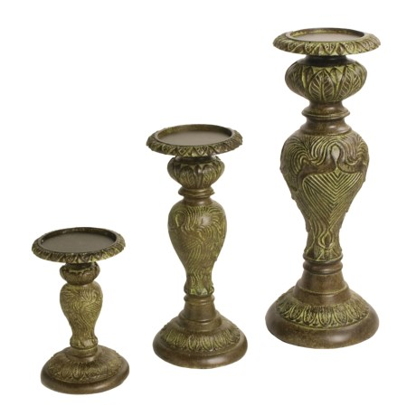 Decoglow Ming Candle Holders - Set of 3