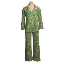 BedHead Bedhead Patterned Cotton Knit Pajamas - Long Sleeve (For Women)