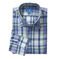 Toscano Linen Plaid Shirt - Long Sleeve (For Men)