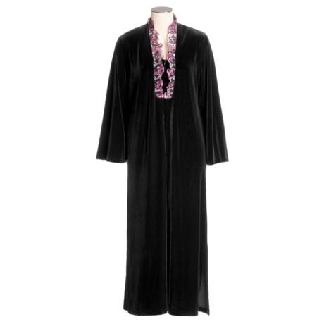 Diamond Tea Velvet and Lace Robe (For Women)