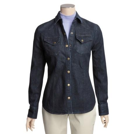 Snap-Front Denim Jacket (For Women)