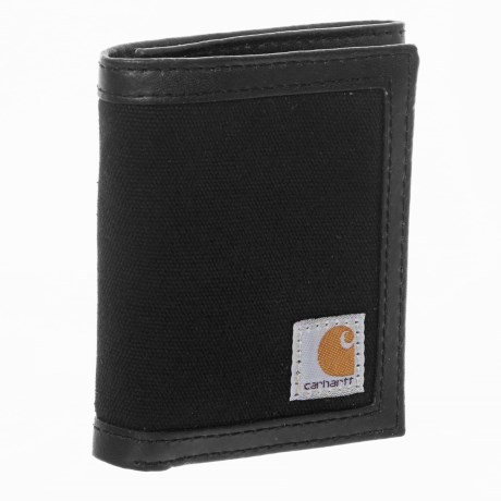 Carhartt Canvas Trifold Wallet - Leather Trim (For Men)