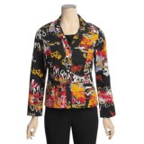 Gabriella Molinari Printed Jacket - Stretch Cotton, Convertible Sleeve (For Women)