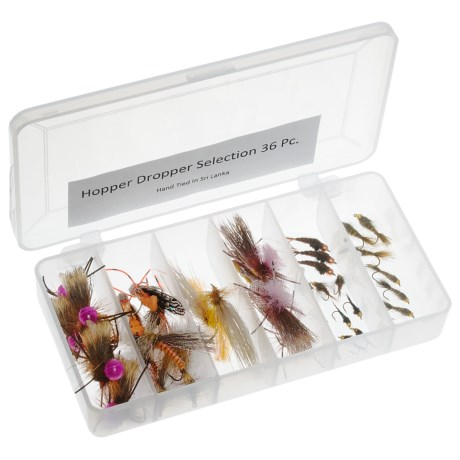 Dream Cast Salmon/Hopper/Dropper Assorted Fly Set - 3 Dozen