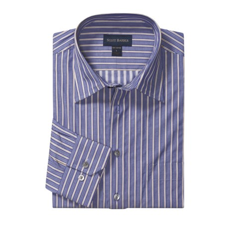 Scott Barber Fancy Stripe Sport Shirt - Cotton Dobby, Long Sleeve (For Men)