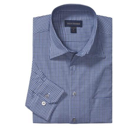 Scott Barber Fancy Check Spread Collar Sport Shirt - Long Sleeve (For Men)