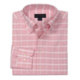 Scott Barber Cotton Check Sport Shirt - Long Sleeve (For Men)