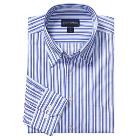 Scott Barber Stripe Sport Shirt - Long Sleeve (For Men)