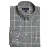 Scott Barber Windowpane Sport Shirt - Cotton, Long Sleeve (For Men)