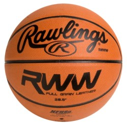 "Rawlings Full-Grain Horween Leather Basketball - 28.5"" (For Women)"