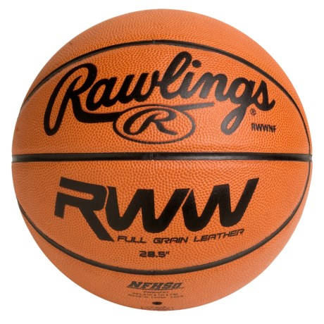 "Rawlings Full-Grain Horween Leather Basketball - 28.5"" (For Women)"