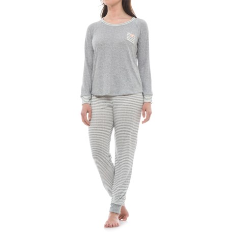 Marilyn Monroe Heather Shirt and Joggers Pajamas - Long Sleeve (For Women)