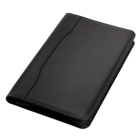 Clava Legal Zip Padfolio - Leather