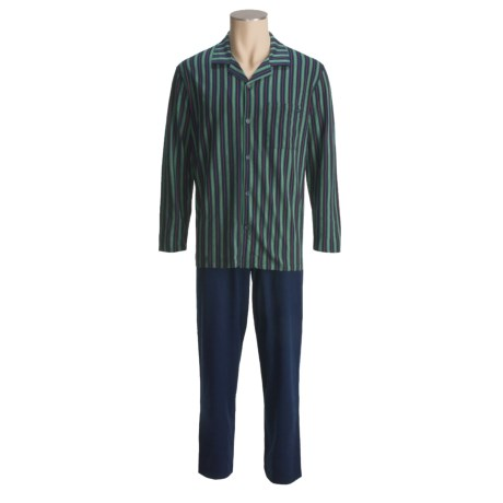 Calida Cotton Knit Pajamas - Long Sleeve (For Men)