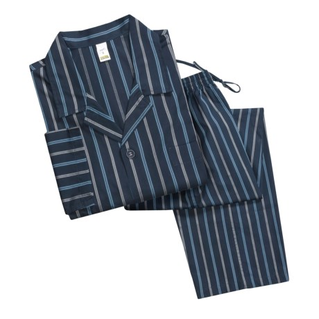 Calida Charmer Woven Cotton Pajamas - Long Sleeve (For Men)