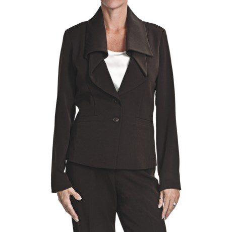 Atelier Luxe Ruffle Lapel Jacket (For Women)