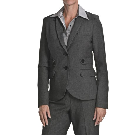 Atelier Luxe Birdseye Jacket - Elbow Patches (For Women)