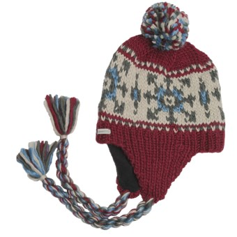 Kootenay Knitting Company Bardu Pom Beanie Hat - Ear Flap (For Men and Women)
