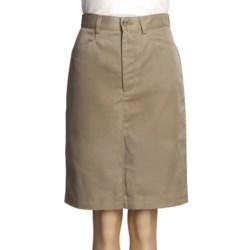 Knee-Length Pencil Skirt - Front Zip (For Women)