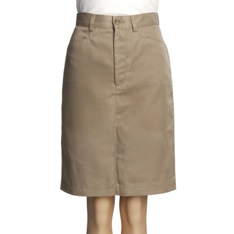 Knee-Length Pencil Skirt - Front Zip (For Women)