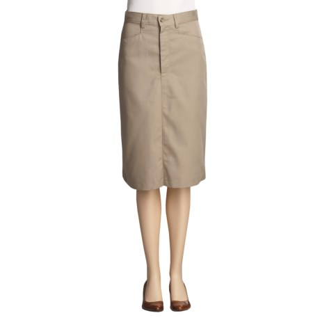 Mid-Length Front Zip Skirt (For Women)