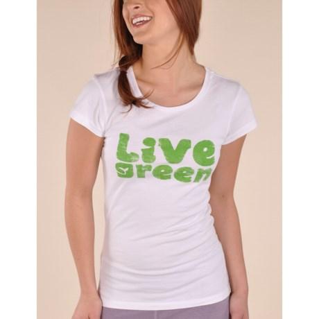 Gramicci Live Green T-Shirt - Organic Cotton, Short Sleeve (For Women)