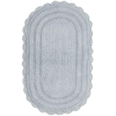 "Madison Home Notting Hill Crochet Oval Bath Rug - 21x34"""