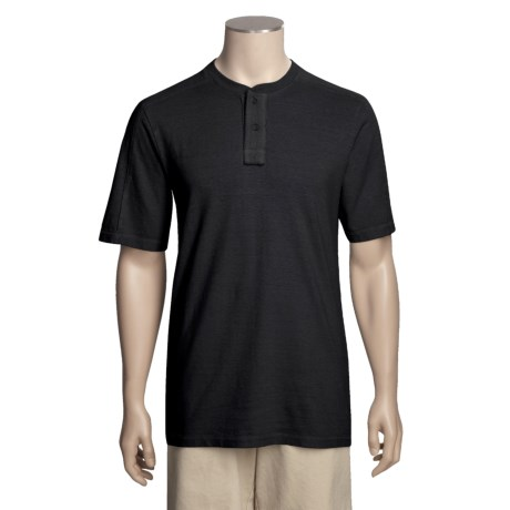 Gramicci Mali Henley Shirt - UPF 20, Hemp-Organic Cotton, Short Sleeve (For Men)