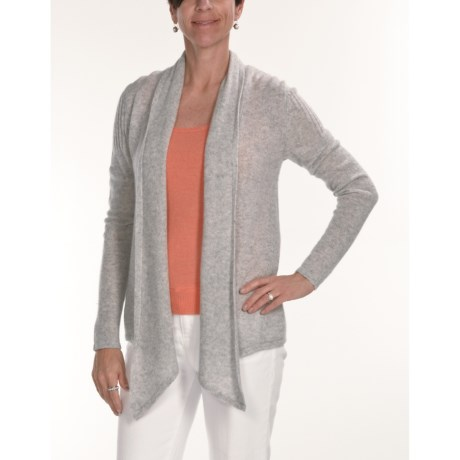 Kinross Cashmere Drape Cardigan Sweater - 2-Ply, 7-Gauge (For Women)