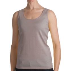 Kinross Cashmere Kinross Cotton Tank Top - 2-Ply, 14-Gauge (For Women)