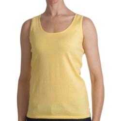 Kinross Cotton Tank Top - 2-Ply, 14-Gauge (For Women)