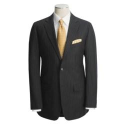 Holbrook Black Stripe Suit - Wool (For Men)