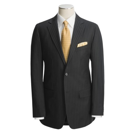 Holbrook Black Stripe Suit - Wool (For Men)