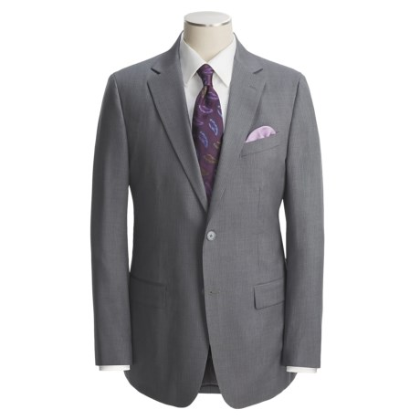 Holbrook Grey Pinstripe Suit - Wool (For Men)