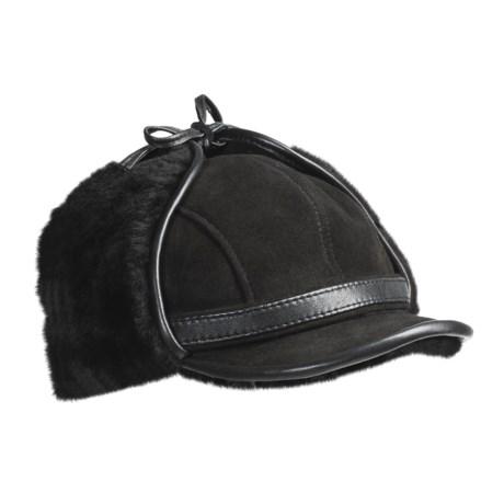 Aston Leather Aston Aviator Sheepskin Hat (For Men)