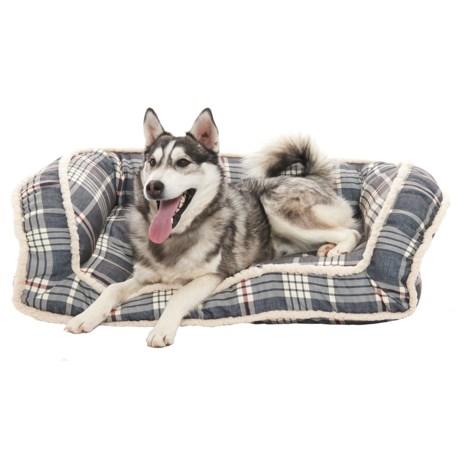 """Arlee Van Meter Plaid Deep-Seated Lounger Dog Bed - 40x25"""""""