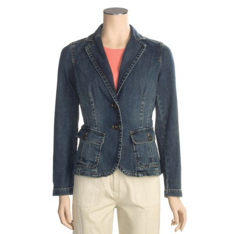 Fitted denim jacket/blazer - Review of Stretch Denim Jacket - Two ...
