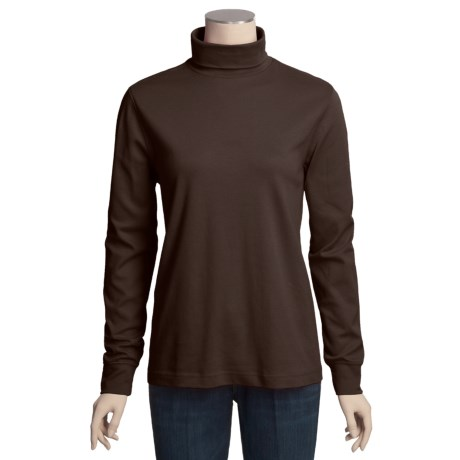 Cotton Turtleneck - Long Sleeve (For Tall Women)