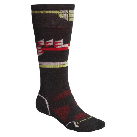 SmartWool Park Crystalize Ski Socks - Merino Wool, Over-the-Calf (For Men and Women)