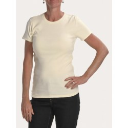 Joan Vass Studio Shirt - Ribbed Cotton, Short Sleeve (For Women)