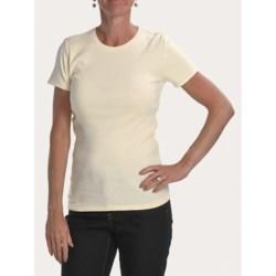 Joan Vass Studio Shirt - Ribbed Cotton, Short Sleeve (For Women)
