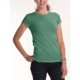 Joan Vass Studio Molly Crew Shirt - Cotton Jersey, Short Sleeve (For Women)