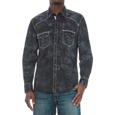 Rock & Roll Cowboy Paisley Print Shirt - Snap Front, Long Sleeve (For Men)