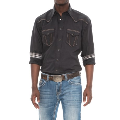 Panhandle Iridescent Micro Twill Shirt - Snap Front, Long Sleeve (For Men)