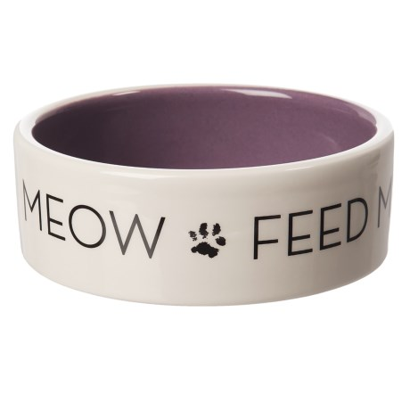 """Winifred & Lily """"Meow Feed Me"""" Cat Dish - 4.25x1.5"""""""