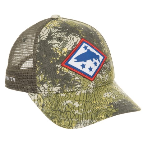 Rep Your Water Arkansas Topocamo Trucker Hat (For Men)