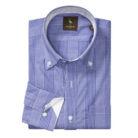 Tailorbyrd Gingham Multi-Check Sport Shirt - Long Sleeve (For Men)