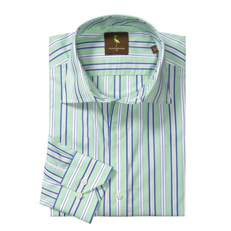 Tailorbyrd Striped Sport Shirt - Spread Collar, Long Sleeve (For Men)